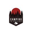 outdoor adventure camping badge logo vector image