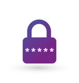pin code and lock simple icon password protected vector image vector image