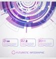 purple round futuristic infographic vector image