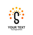s letter logo icon template symbol s logotype vector image