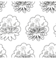 Seamless floral background contours vector image