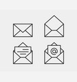 set envelop icons letter envelope icon template vector image