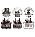 set logos for beer and brewery vector image