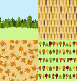Set of Autumn Nature Seamless Patterns Backgrounds vector image vector image