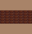 sweet chocolate pattern made of chocolate bars vector image