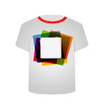 T Shirt Template- Colorful blocks vector image vector image