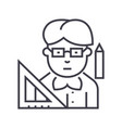 teacher line icon sign on vector image