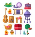 Things Needed For Barbeque Party vector image vector image