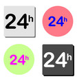 time 24 hours flat icon vector image vector image