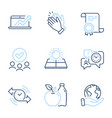 time management clapping hands and sun energy vector image vector image