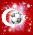 turkey soccer flag vector image vector image