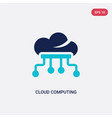 two color cloud computing icon from artificial vector image vector image