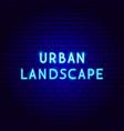 urban landscape neon text vector image vector image