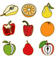 Vegetable and Fruit Set vector image vector image