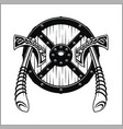 viking warrior emblem vector image vector image