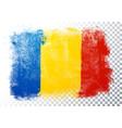 vintage grunge texture flag romania vector image vector image