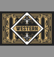 vintage label with old frames layered vector image vector image