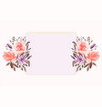 watercolor floral flower decorative background vector image vector image