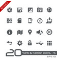 web and mobile icons-5 - basics vector image