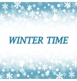Winter time abstract backround vector image