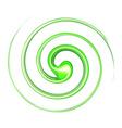 Vortex background green vector image