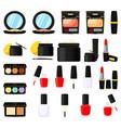 22 colorful cartoon makeup elements vector image vector image