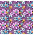 A seamless pattern of buttons in the shape of vector image vector image