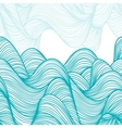 Abstract hand-drawn waves background vector image vector image