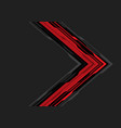 abstract red black arrow circuit on grey vector image vector image