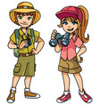 adventure kids vector image vector image