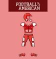 american football armour vector image vector image
