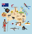 australia travel vector image