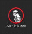 avian influenza logo icon vector image