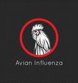 avian influenza logo icon vector image vector image