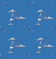 bat and flying saucer seamless pattern vector image vector image