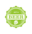 beer logo with a minimalist vintage style vector image vector image