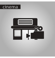 black and white style icon building cinema camera vector image vector image