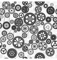 black cogs and gears seamless background vector image vector image