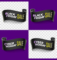 black friday sale ribbon vector image