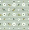 botanical seamless pattern with white blooming vector image