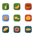 Bread set icons in flat style Big collection of vector image vector image