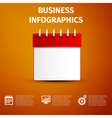 Business infographics icon Calendar red icon vector image vector image