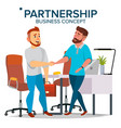 business partnership concept two business vector image