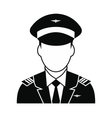 Captain of the aircraft icon vector image vector image