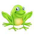 cartoon frog character vector image vector image
