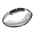 cartoon image of rugby ball vector image vector image