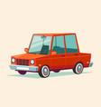 cartoon red car vector image vector image