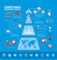 christmas infographic elements vector image vector image