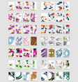 collection of business annual report brochure vector image vector image