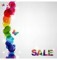 Colorful Sale Text vector image vector image